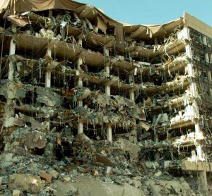 Murrah Federal Building in Oklahoma City truck bomb