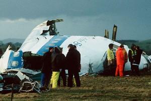 Pan Am Flight 103 exploded over Lockerbie