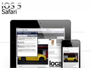 A new Safari ios 5