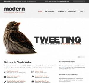 Clearly Modern WordPress