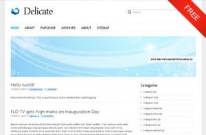 Delicate WordPress Theme