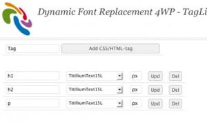 Dynamic Font Replacement Plugin
