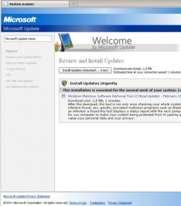 Fake Microsoft Updates