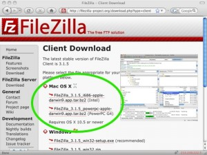 FileZilla Mac apps
