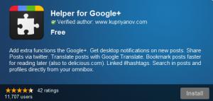 Helper for Google+