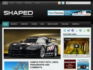 Shaped WordPress Theme
