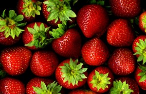 Strawberries bunch of them