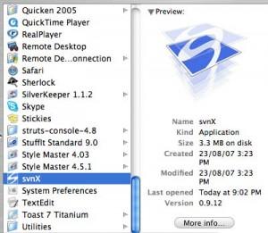 SvnX Mac apps