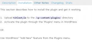 Title Style Plugin