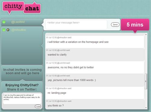 Twitter apps ChittyChat