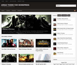 Arras wordpress theme