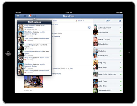 Facebook on Ipad