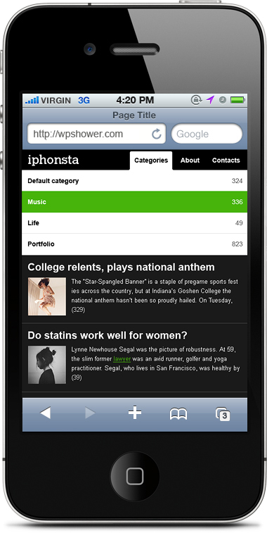 iPhonsta 1.1 WordPress Theme