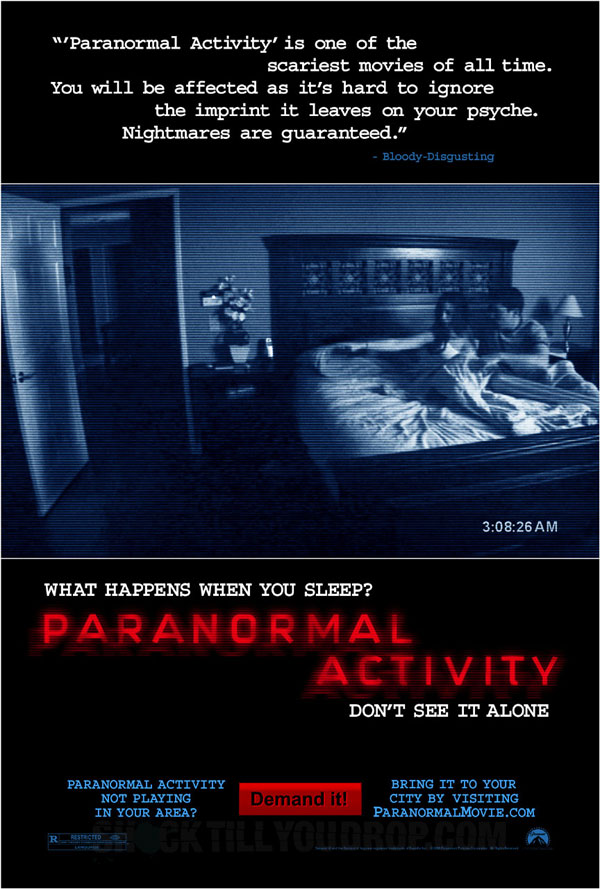 Paranormal Activity (2007) Best scary Movie